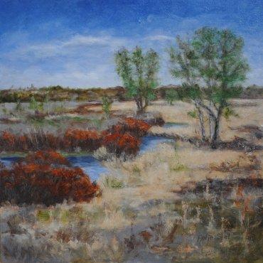 Gasterense duinen Olieverf op paneel 38 x 38 cm