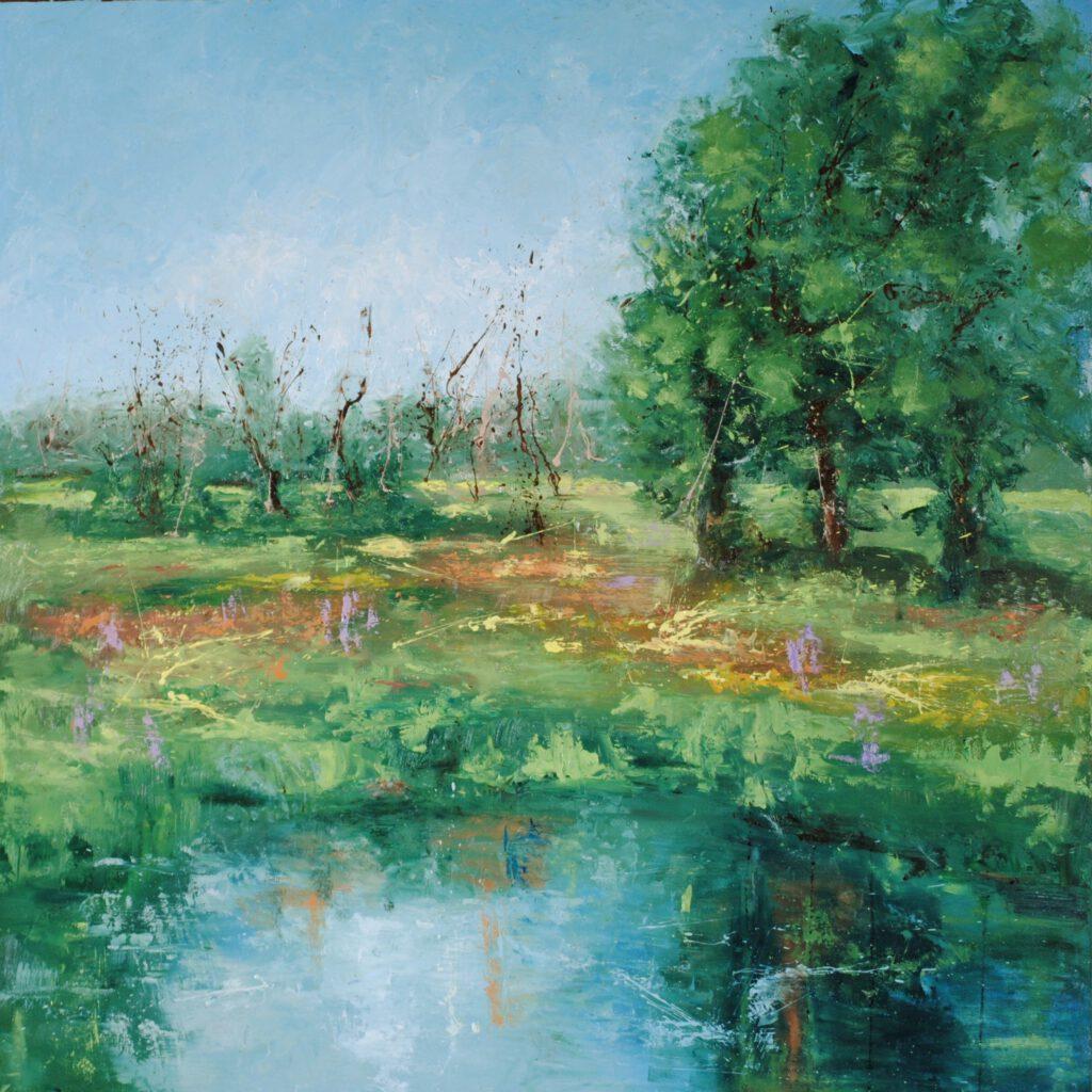Dijkveld Olieverf op paneel 80 x 80 cm
