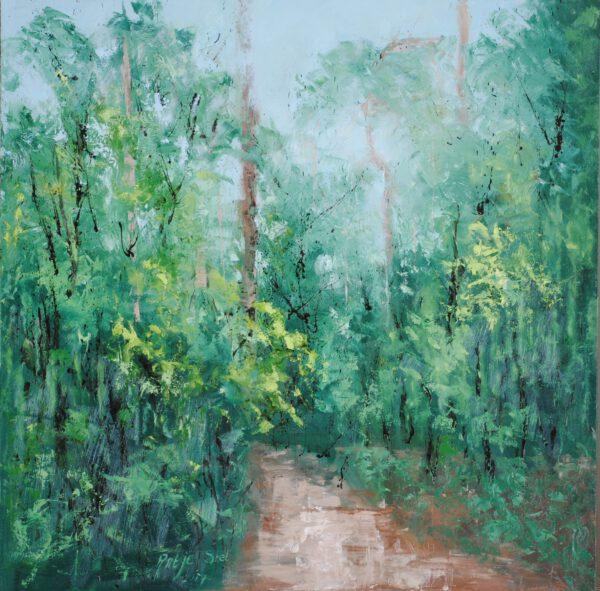 Namiddag Olieverf op paneel 80 x 80 cm