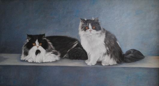 Romulus en Remus Oieverf op paneel 60 x 120 cm