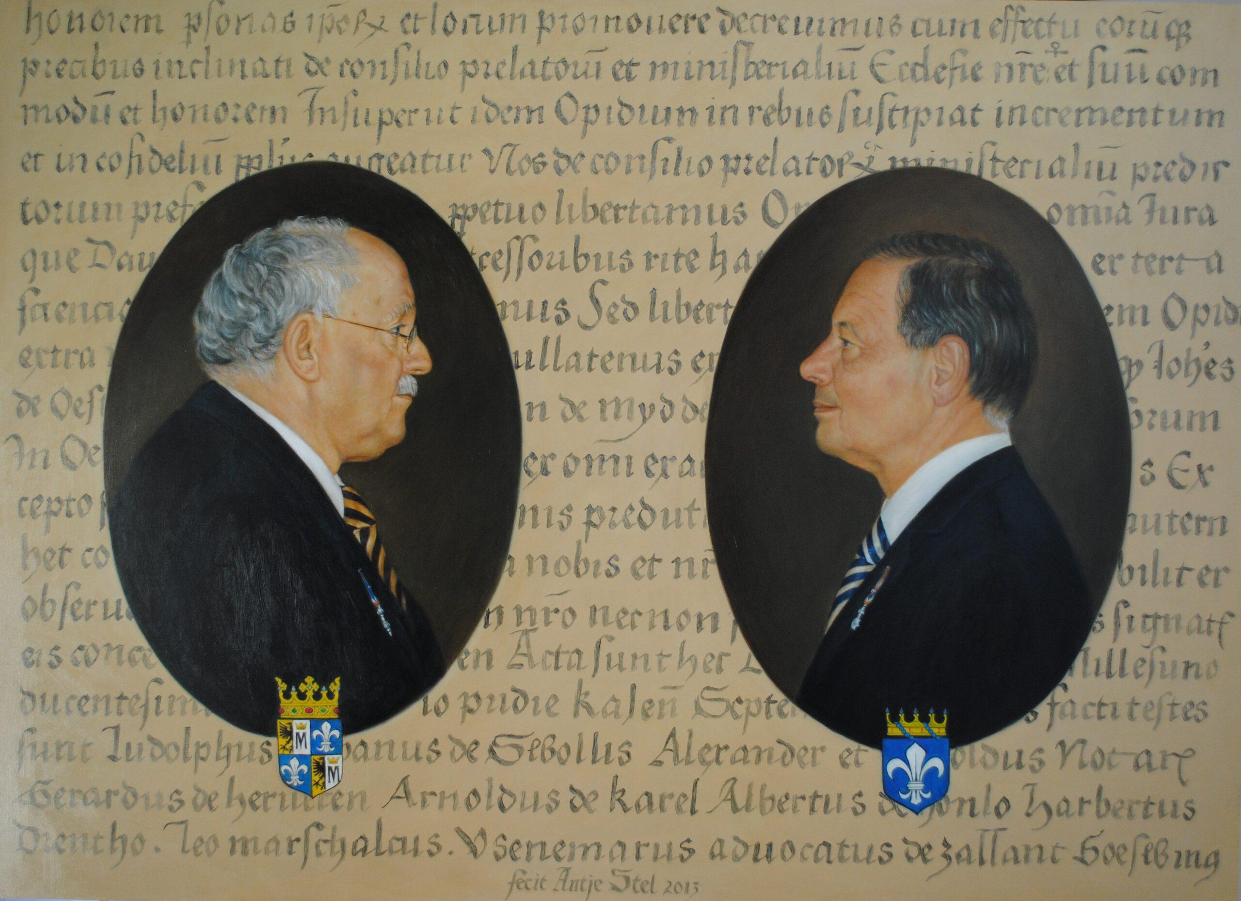 Albert Mensema en Arnold Gevers Olieverf op paneel 80 x 100 cm